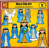 Mary Clip art by Charlotte's Clips - Catholic Christian Series