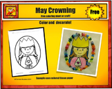 Free Mary Printable and Craft for May Crowning from Charlotte's Clips