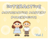 Free Mastery Maths interactive Powerpoint for Grade K - In line with common core