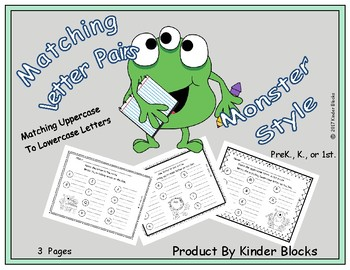 Free  Matching Letters Monster Style - Print Concepts