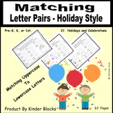 Matching Upper and Lower-Case Letters - Holiday Style