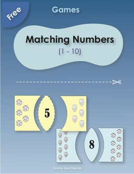 Free Matching Number Games for Kindergarten (1-10)