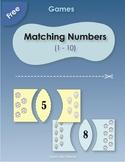 Free Matching Number Games for Kindergarten (1-10)