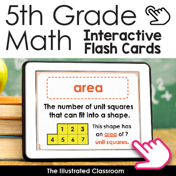 Free Math Activity - 5th Grade Math Vocabulary Flash Cards