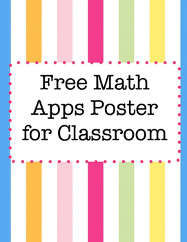 Free Math Apps Poster for Classroom by Coffeebreakwithrae | TpT