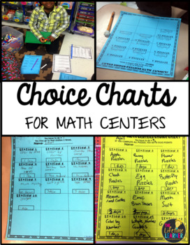 Free Math Choice Charts