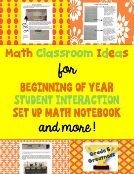 Free Math Classroom Ideas and Tips for Beginning of Year