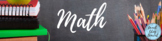 Free Math Google Classroom Header - for Distance Learning