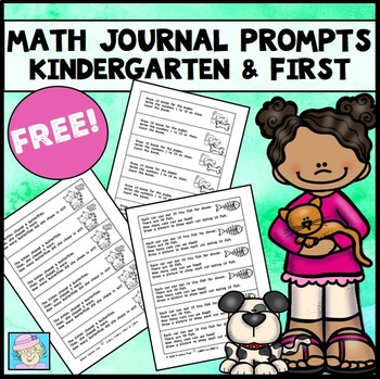 Free Math Journal Prompts for Kindergarten and First Grade