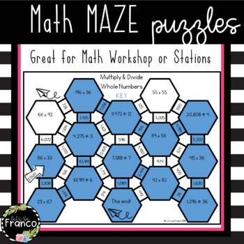 Free Math Maze Puzzles 5th Grade Math Station