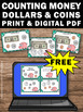 FREE Counting Money Task Cards, Counting Coins & Dollars, 2nd Grade Math Review