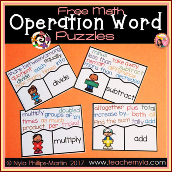 Free Math Operation Word Puzzles