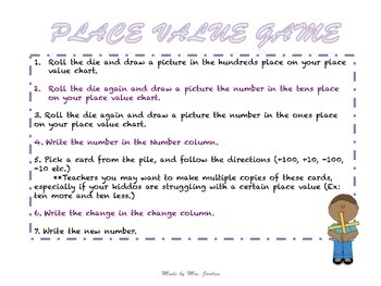 Free Math Place Value Game
