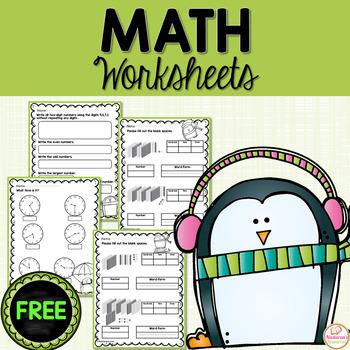Free Penguin Math Worksheets