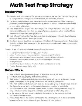 Math Test Prep Strategy