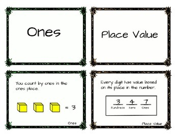 Free Math Vocab Matching Game - Place Value