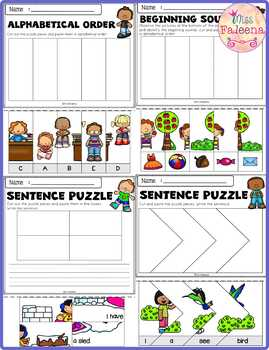 Free Math and Literacy Puzzles