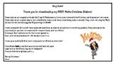 Free Maths Christmas Stations!