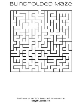 Free Mazes (blindfold 1 student & the other gives directions)