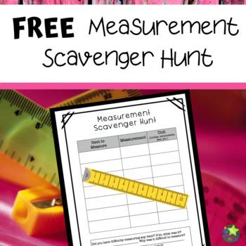 Free Measurement Scavenger Hunt