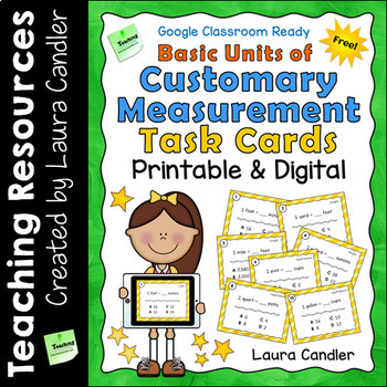 Free Measurement Task Cards | Basic Units of Customary Measurement
