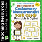 Free Basic Units of Customary Measurement Task Cards