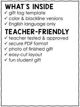 Student Gift Tags - Open House