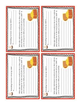 Free Meet the Teacher Student Information Card