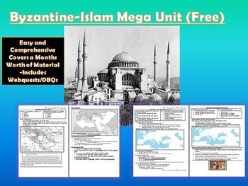 Islam and Byzantine Unit  Story: (Lesson Bundle + Mega PPT)