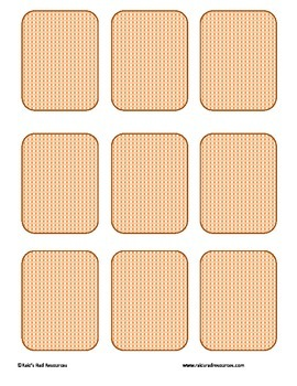 Free Memory Card Template