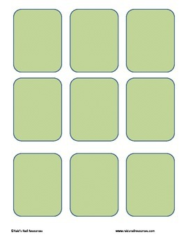 Free memory card template by raki 39 s rad resources tpt for In memory cards templates