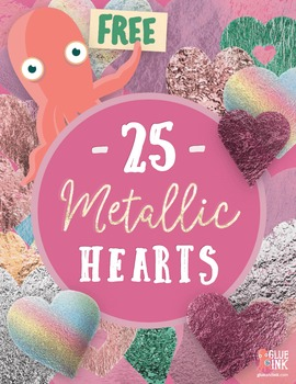 Free Metallic Heart Clip Art - Commercial Use