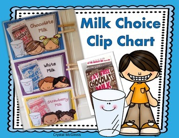 FREE Milk Choice Clip Chart