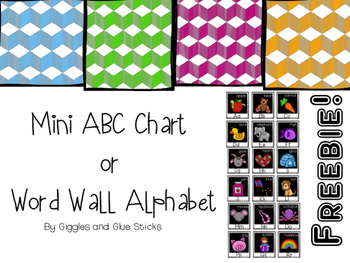 {Free} Mini Alphabet Chart or Word Wall Alphabet
