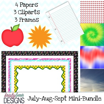 Free Mini Bundle! {July August September}