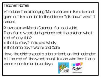 Free - Mini March Calendar Activity