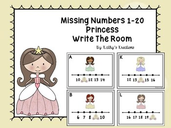 Missing Numbers 1-20 Princess