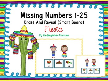 Free Missing Numbers Erase And Reveal Fiesta