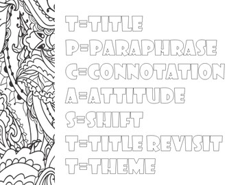 Free Literary Analysis Review Coloring Pages: Mini Posters