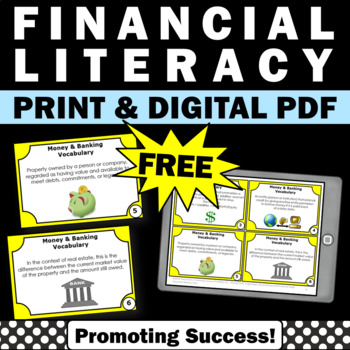 FREE Financial Literacy Activities Life Skills Special Education Math Task Cards