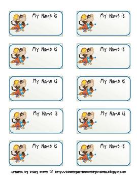Free Monkey Nametag Labels