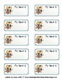 Free Monkey Nametag Labels
