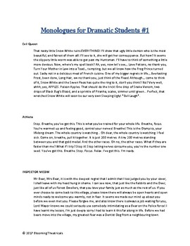 Free Monologues for Dramatic Students Vol 1