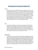 Free Monologues for Dramatic Students Vol 01