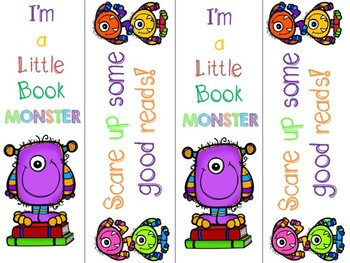 Free Monster Bookmarks