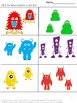 Free Monster Math Sampler Pre-K, K, Autism, Special Eduation