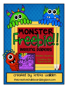 {Free} Monster Writing Papers