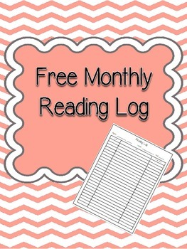 Free Monthly Reading Log with AR or Other Reading Goal