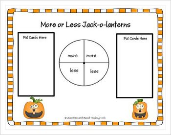 Free More or Less Jack-o-lantern Game