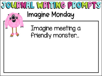 Free Morning Journal Writing Prompts-Bell Ringers- NO PREP